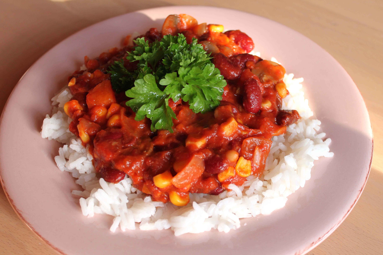 ris med bønner