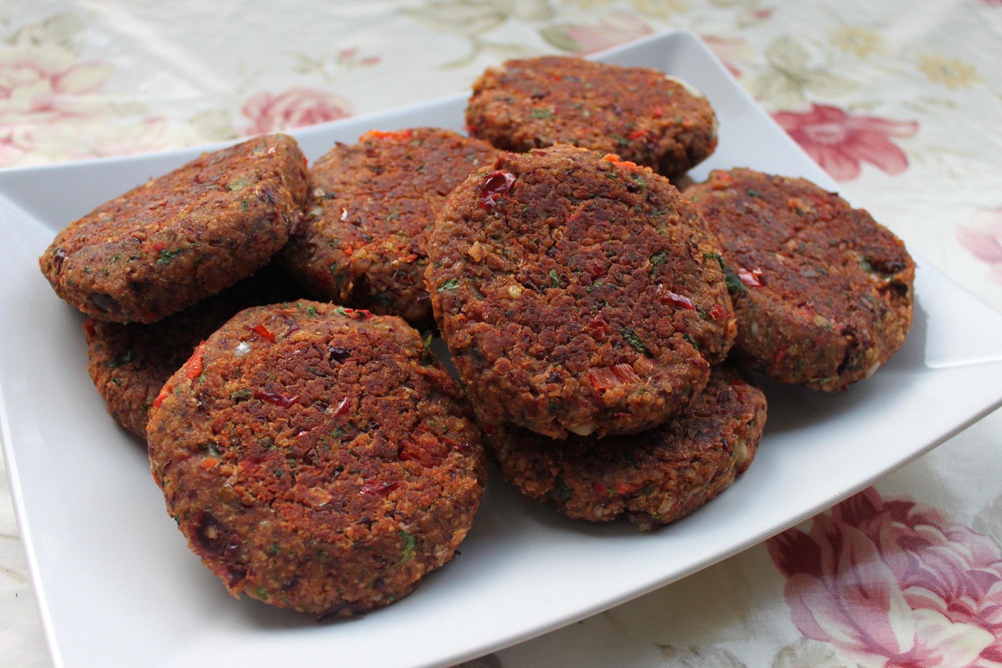 veganske burgerbøffer