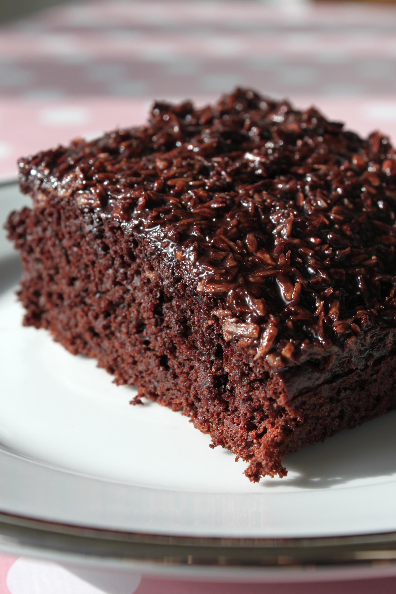 Chokoladekage Med Banan Og Kokosglasur Mia Sommer
