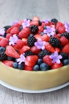 Chokoladelagkage med hindbærmousse og marcipan 2 –Copy